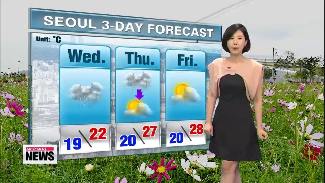 Heavy rainfall forecasted today into Thursday