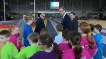 The Duke and Duchess of Cambridge have fun with Scottish children
