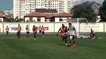 Dribles espetaculares e golaço agitam treino do Botafogo
