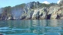 Ballade en kayak de mer du coté de Morgat, la Pointe de St Hernot et la plage de l'Ile Vierge.