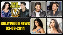 Bollywood News | Salman Khan, Alia Bhatt Ranked Bollywood No.1 Celebs | 03rd September 2014