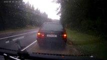 Accident en doublant une voiture
