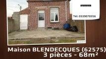 A vendre - maison - BLENDECQUES (62575) - 3 pièces - 68m²