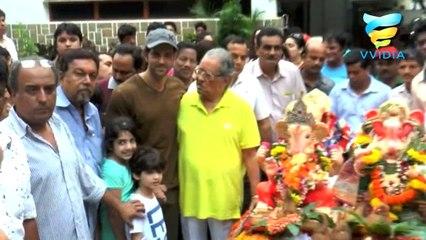 Hrithik Roshan and Rakesh on Ganpati Visarjan