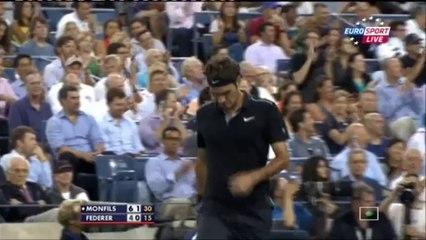 Tennis Highlights, Video - Gael Monfils vs Roger Federer 2-3  Gael Monfils vs Roger Federer Quarter Final  US Open 2014