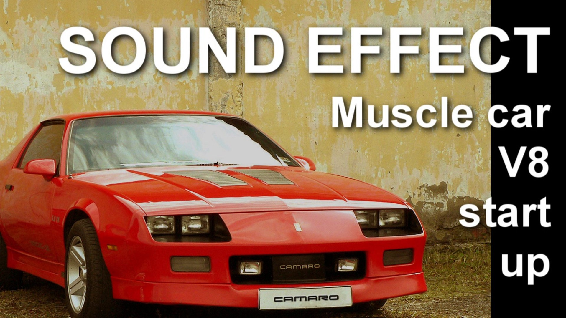 Muscle car V8 start up Drive Off SOUND EFFECT