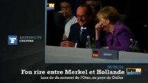 Zapping TV : le fou rire d'Angela Merkel et François Hollande