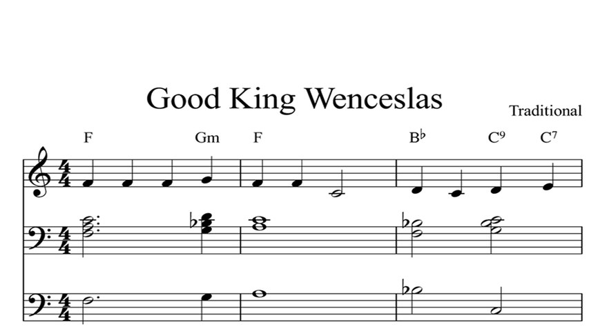 good king wenceslas: digital sheet music piano organ & keyboard book 1 -  video dailymotion  dailymotion