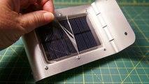 Kootek Solar Powered Garden Lights 16 LED Motion Sensor Detector Outdoor Security Light Waterproof Home Yard Lamp