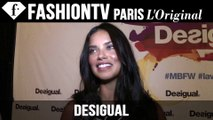Adriana Lima at Desigual EXCLUSIVE | New York Fashion Week NYFW Spring/Summer 2015 | FashionTV