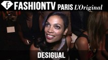 Rosario Dawson Front Row at Desigual | New York Fashion Week NYFW Spring/Summer 2015 | FashionTV