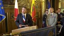 """Centenaire de la première guerre mondiale : cérémonie """"100 villes, 100 héros, 100 drapeaux"""" en présence du Général de Villiers et de Serge Grouard"""