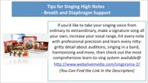 How to Hit High Notes When Singing: Tips for Singing High Notes