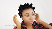 Bantu Knot Out on Natural Hair: How To Take Down Knots on Short Transitioning Hair Tutorial Part 3 of 4