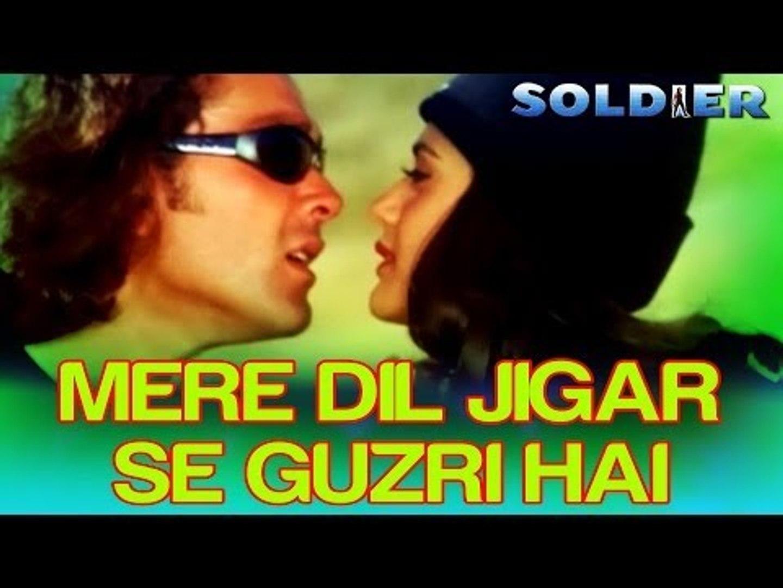 Mere Dil Jigar Se Guzri Hai - Soldier   Bobby Deol & Preity Zinta   Kumar Sanu & Alka Yagnik