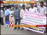 Telangana journalists protest attack Tv9 counterparts by police