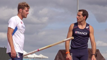 Un entraînement avec Renaud Lavillenie et Kevin Mayer !