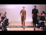 Fashion Show J.W. ANDERSON Autumn Winter 2014 2015 London Menswear by Fashion Channel