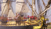 Rochefort : L'Hermione a pris la mer !