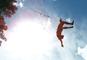 Devin SuperTramp - 50 Foot Rope Swing Into Lake! - Swing Rope