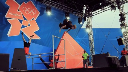 London 2012 '1 Year To Go' Parkour Display
