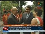 Atestigua el presidente Maduro la toma de posesión de Samper en UNASUR