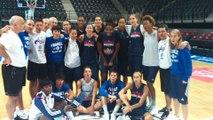 Les Braqueuses soutiennent les Bleus avant la Serbie