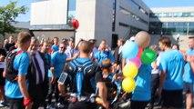 Course pour Agathe: l'arrivée de la fillette à Lille avec les derniers coureurs
