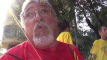 Barcelone/11 septembre 2014 Manifestation pour l'indépendance de la Catalogne, José-Maria Fernandez, un des 1 millions 800 000! interview par Nicolas Caudeville