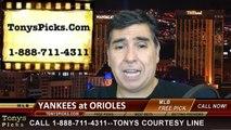 Baltimore Orioles vs. New York Yankees versus Pick Prediction MLB Betting Lines Odds Preview 9-12-2014