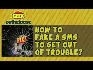 How to Fake a SMS to get out of trouble?   - Episode 13 Geek On the Loose with Ankit Fadia
