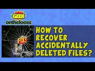 How to recover Deleted Files? - Episode 9 Geek On the Loose with Ankit Fadia