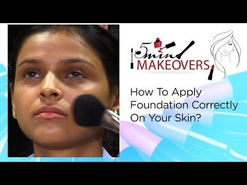 How To Apply Foundation Correctly On Your Skin?    The Cloakroom