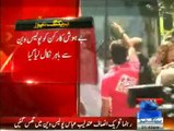 PTI workers punctured prison vans' carrying party workers, on their way to jail