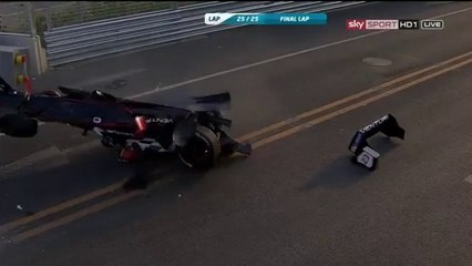 Formula E Beijing 2014 Horror crash Heidfeld