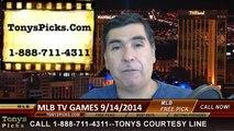 Sunday MLB TV Games Betting Previews Picks Predictions 9-14-2014