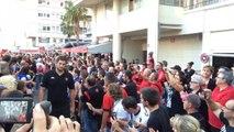RCT-Stade Français: l'arrivée des Toulonnais à Mayol