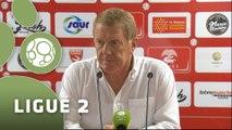 Conférence de presse Nîmes Olympique - Stade Brestois 29 (0-0) : José  PASQUALETTI (NIMES) - Alex  DUPONT (SB29) - 2014/2015