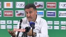 Les réactions de Christophe Galtier après ASSE-Caen (1-0)