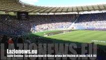 Lazio-Cesena - La premiazione di Klose prima del fischio di inizio (14.9.14)