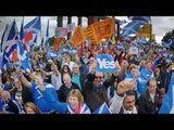 September 14 2014 Breaking News Scottish Independence Thousands On The Streets For Weekend Campaign.