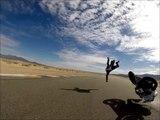 """Gros crash en """"high side"""" à grande vitesse sur circuit de moto"""