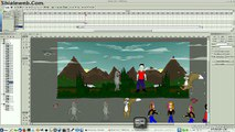 Swishmax + Inkscape Animando Dibujo Caricatura Flash Anime Linux Fedora 20 KDE Pigis Libre Animacion Swishmax