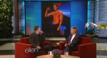 Channing Tatum Staring at Other Hot Shirtless Guys on Ellen