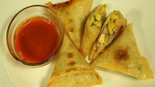 How To Make Corn Samosa By Maithily