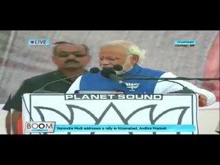 Narendra Modi Rally in Nizamabad