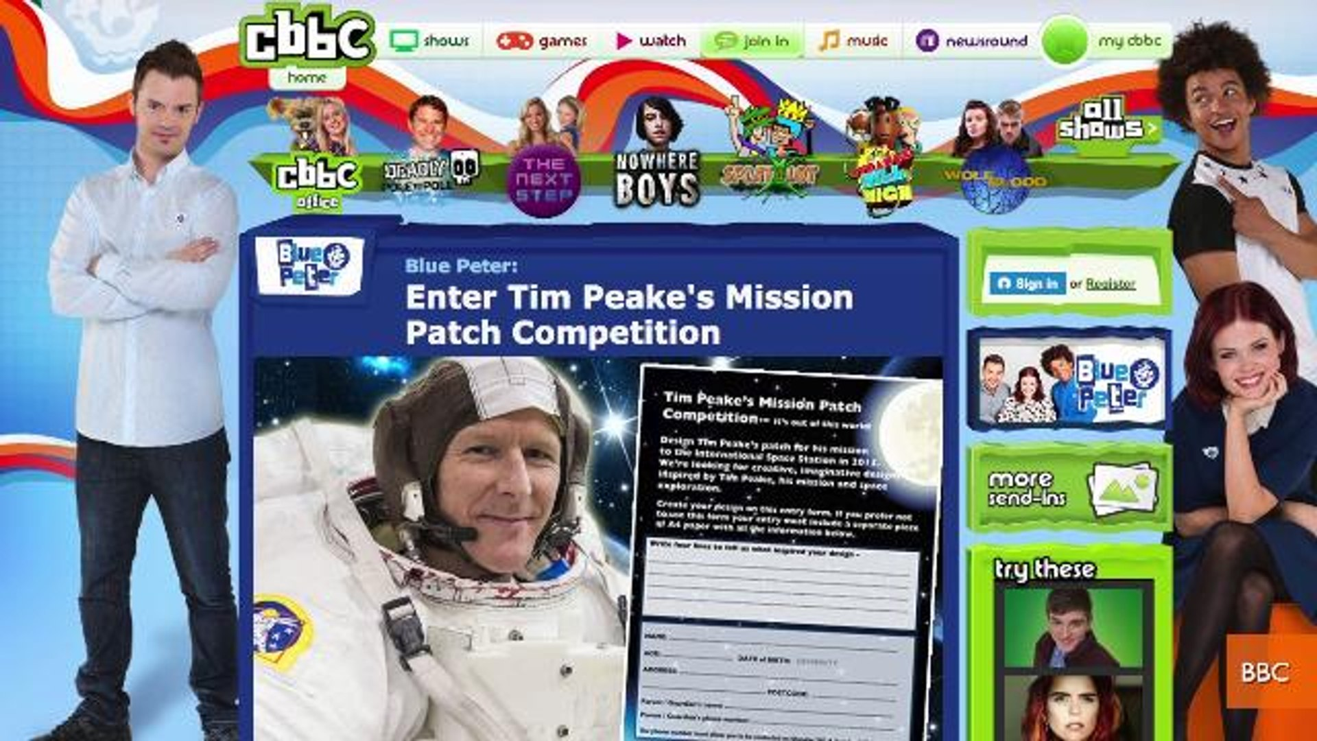 British Television Show Gives Kids A Chance to Design Astronaut's Mission Patch
