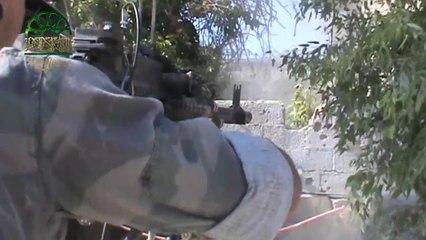 دك تجمعات الشبيحة في جوبر برشاش 12.5