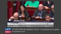 """Manuel Valls met en garde le patronat contre la """"surenchère"""""""