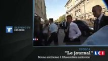 Zapping TV : un homme masqué perturbe l'arrivée de Manuel Valls à l'Assemblée